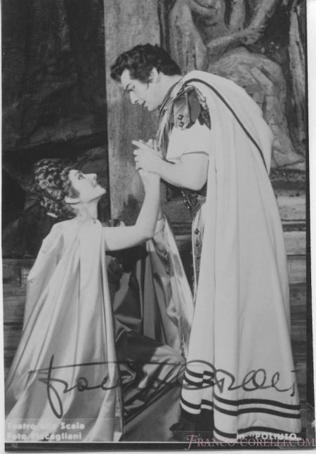 Franco Corelli con Maria Callas in Poliuto